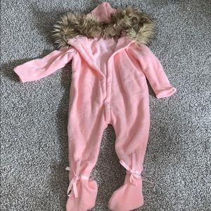 Other - Baby/toddler winter knit snowsuit with faux fur